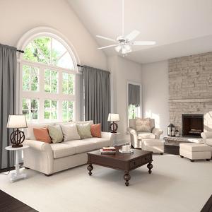 Ventilador de Teto Residencial Builder Plus Branco Hunter Fan Oficial