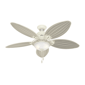 Ventilador de Teto Residencial Caribbean Breeze Branco Hunter Fan Oficial