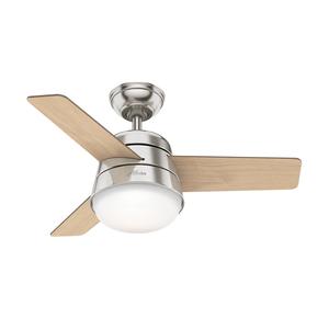 Ventilador de Teto Residencial Finley Niquel Escovado Hunter Fan Oficial