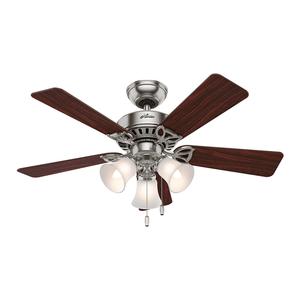 Ventilador de Teto Residencial Beacon Hill Níquel Escovado Hunter Fan Oficial