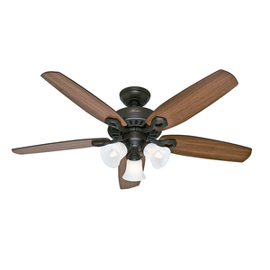 Ventilador de Teto Residencial Builder Plus Bronze Novo Hunter Fan Oficial
