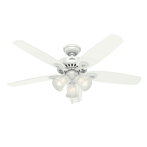 Ventilador de Teto Residencial Builder Plus Branco Hunter Fan Oficial