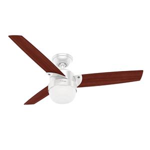 Ventilador de Teto Residencial Nova Branco Hunter Fan Oficial 127v OUTLET