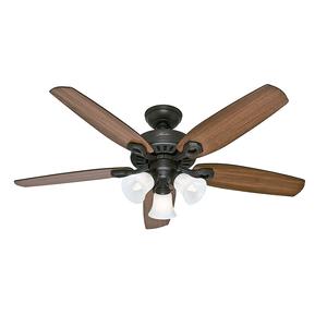 Ventilador de Teto Residencial Builder Plus Bronze Novo Hunter Fan Oficial 127v OUTLET