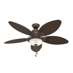 Ventilador de Teto Residencial Caribbean Breeze Vime Marrom Hunter Fan Oficial 220v OUTLET