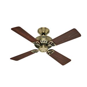 Ventilador de Teto Residencial Bay Port Metal Antigo Hunter Fan Oficial 220v OUTLET