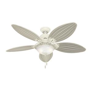 Ventilador de Teto Residencial Caribbean Breeze Vime Creme Hunter Fan Oficial 127v OUTLET
