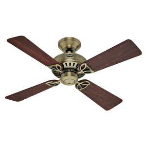 Ventilador de Teto Hunter Fan Bayport Metal Antigo 127V OUTLET